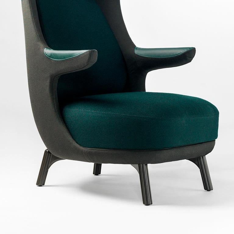 Spanish Jaime Hayon, Dino Armchair Contemporary Green Hayon Edition Upholstery For Sale