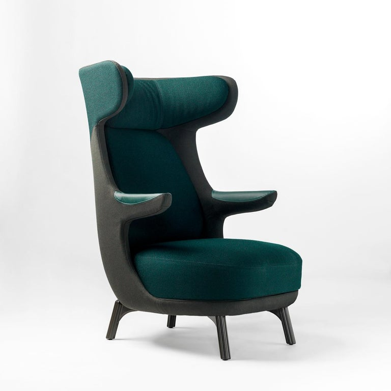 Jaime Hayon, Dino Armchair Contemporary Green Hayon Edition Upholstery For Sale 1
