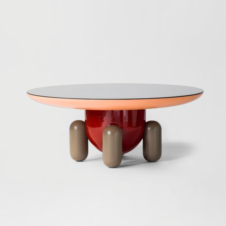 Lacquered Jaime Hayon Multi-Color Explorer #03 Table by BD Barcelona For Sale