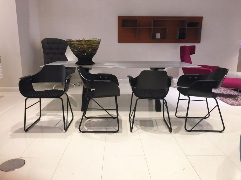 Modern Jaime Hayon, Set of 4 Contemporary Black Armchairs by BD Barcelona For Sale