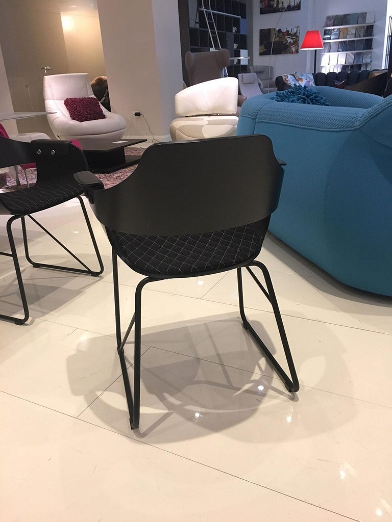 Jaime Hayon, Set of 4 Contemporary Black Armchairs by BD Barcelona For Sale 1