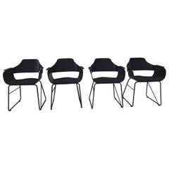 Jaime Hayon, Set of 4 Contemporary Black Armchairs by BD Barcelona