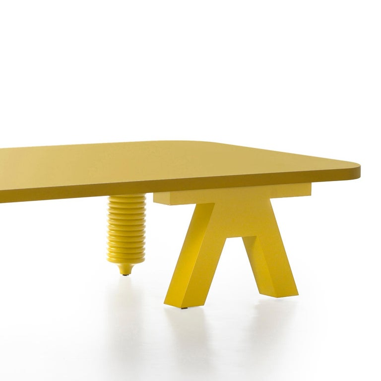 Modern Jaime Hayon Yellow Multileg Low Table by BD Barcelona For Sale
