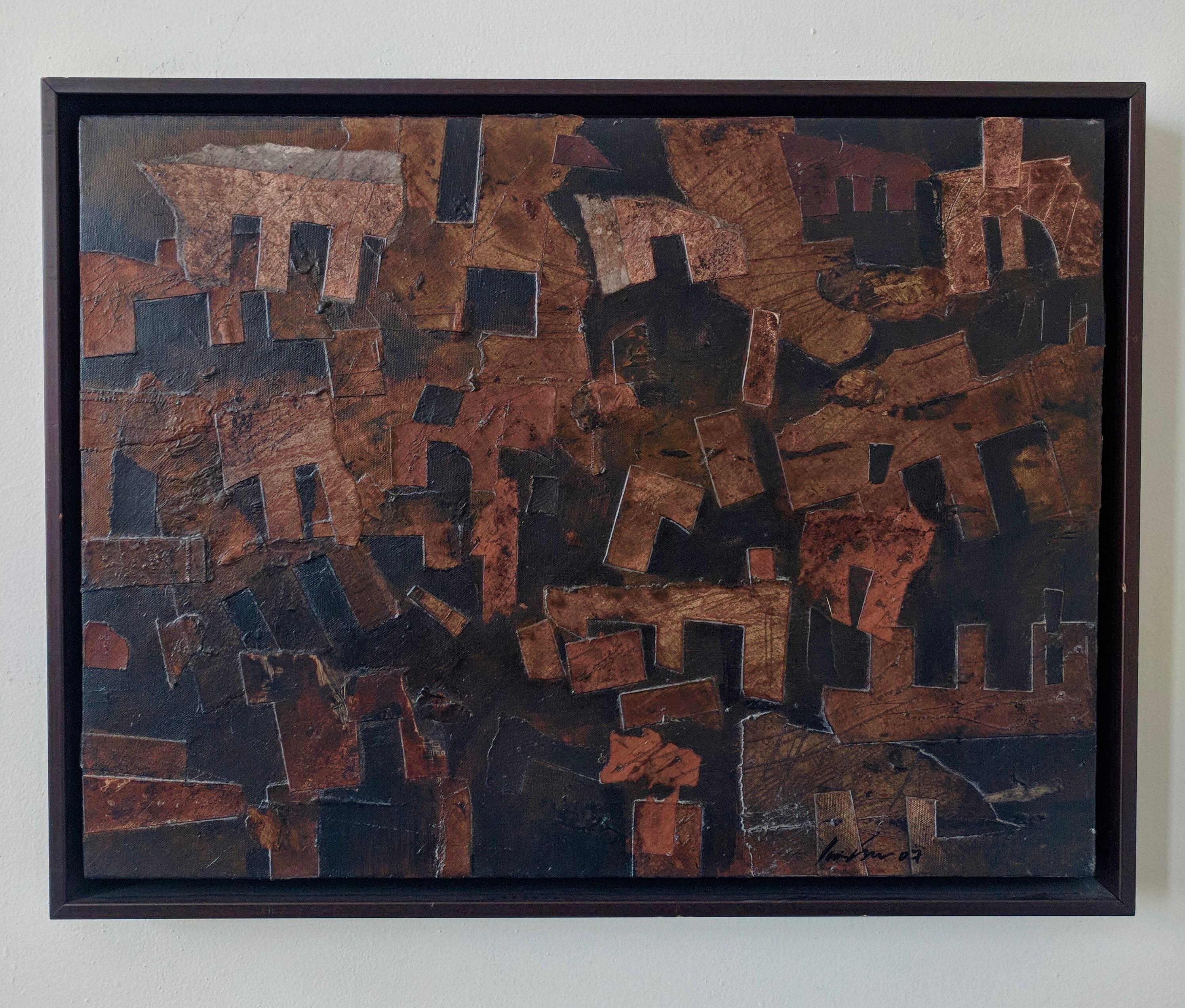 Mixed Media Painting -- Stratified Landscapes No. 3