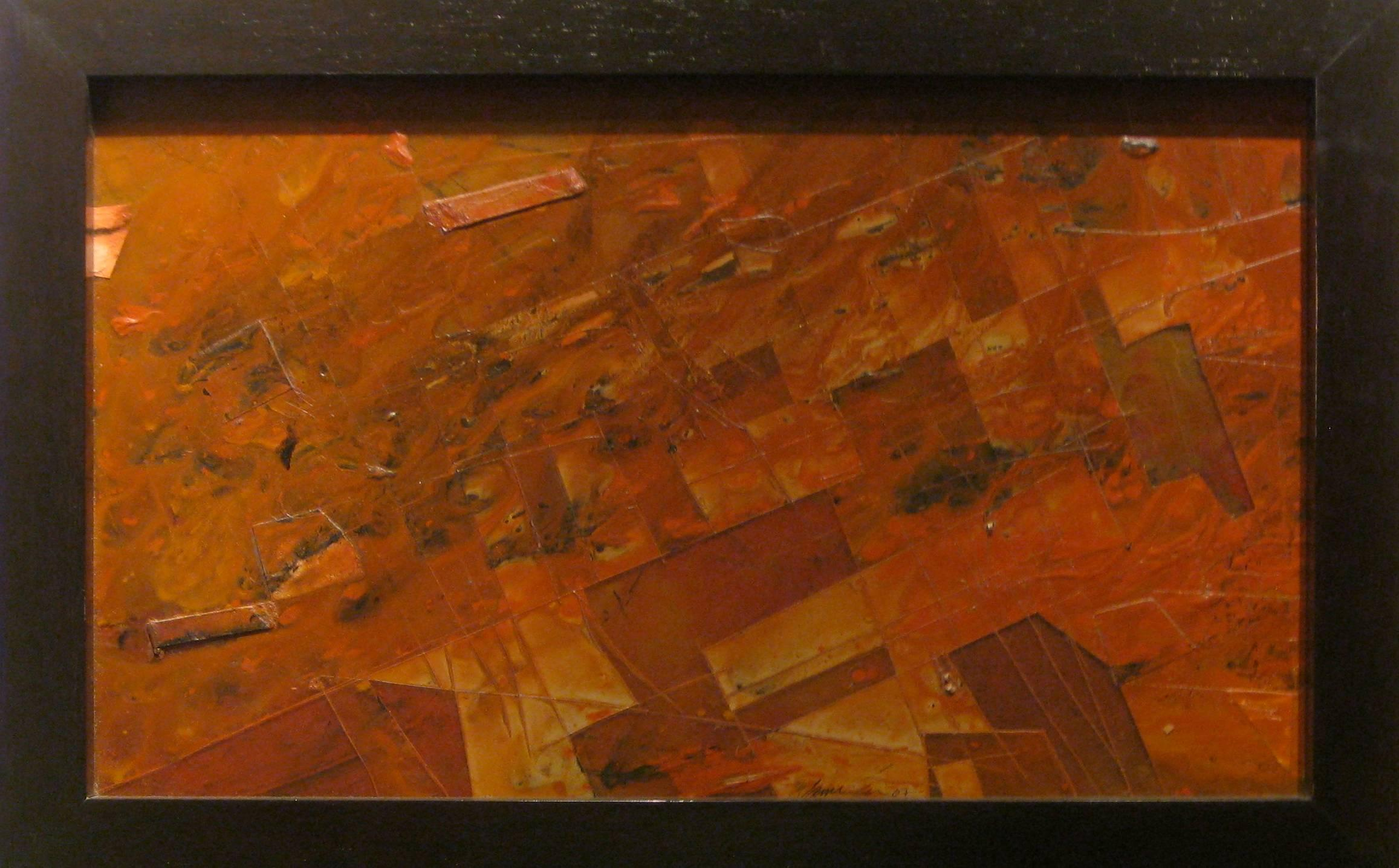 Collaged Canvas Painting -- Stratified Landscapes No. 4