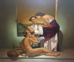 """ Torero"" original realist acrylic canvas painting"
