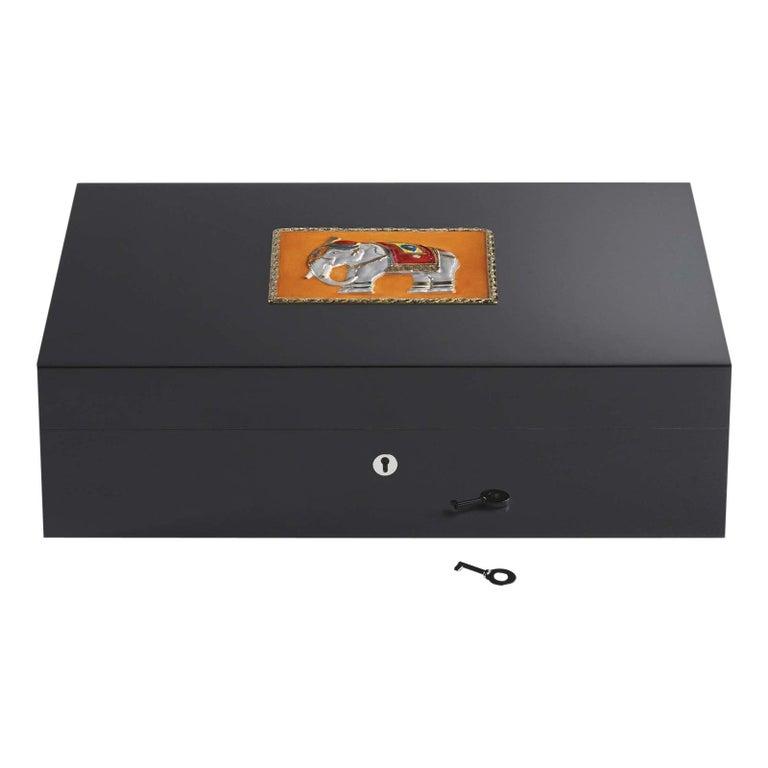 Jaipur Orange Humidor for 110 Cigars For Sale
