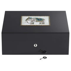 Jaipur White Humidor for 75 Cigars