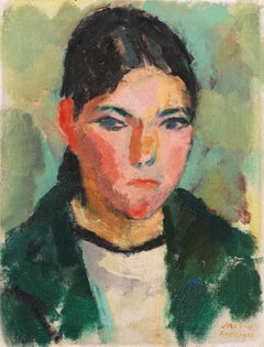 Danish Post-Impressionist Oil 'Breton Girl'; Paris, Salon d'Automne, Fauve