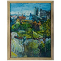 Jake Attree, Oil on Canvas, Aview of Leeds, 1992