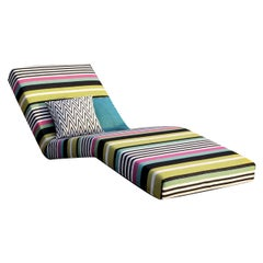 Jalamar Outdoor Multicolor Fluo Stripes Chaise Lounge by MissoniHome
