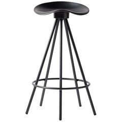 Jamaica All Black Counter Stool, Aluminum Seat
