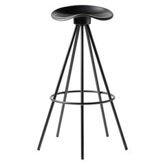Jamaica All Black Bar Stool Aluminum Seat