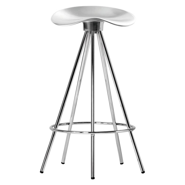 Jamaica Counter stool in aluminium seat and chromed steel by Pepe Cortés