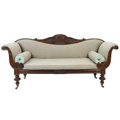 Jamaikanisches Mahagoni-Sofa, um 1830