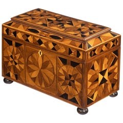 Jamaican Marquetry Tea Caddy in Caribbean Woods by Ralph Turnbull