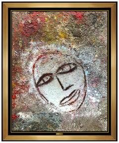 Jamali Original Fresco Tempera Painting On Board Signed Portrait Modern Artwork