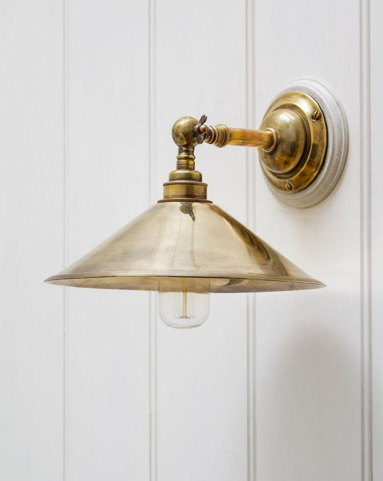 Brooke Wall Light Sconce in Antique Brass & Bronze 'EU Wired' In Excellent Condition For Sale In London, GB