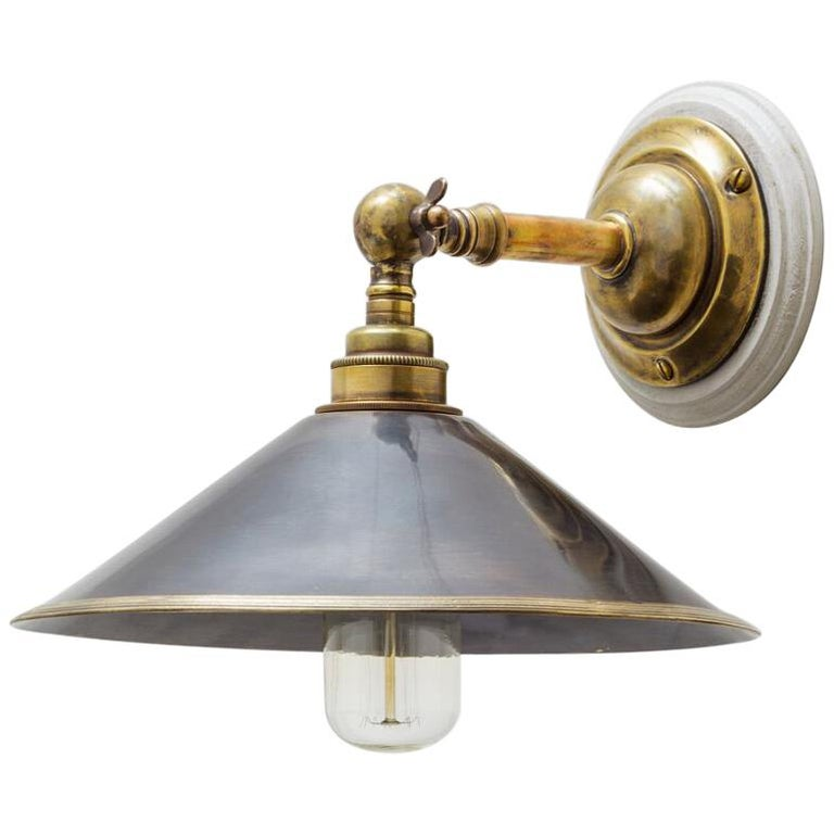 Brooke Wall Light Sconce in Antique Brass & Bronze 'EU Wired' For Sale