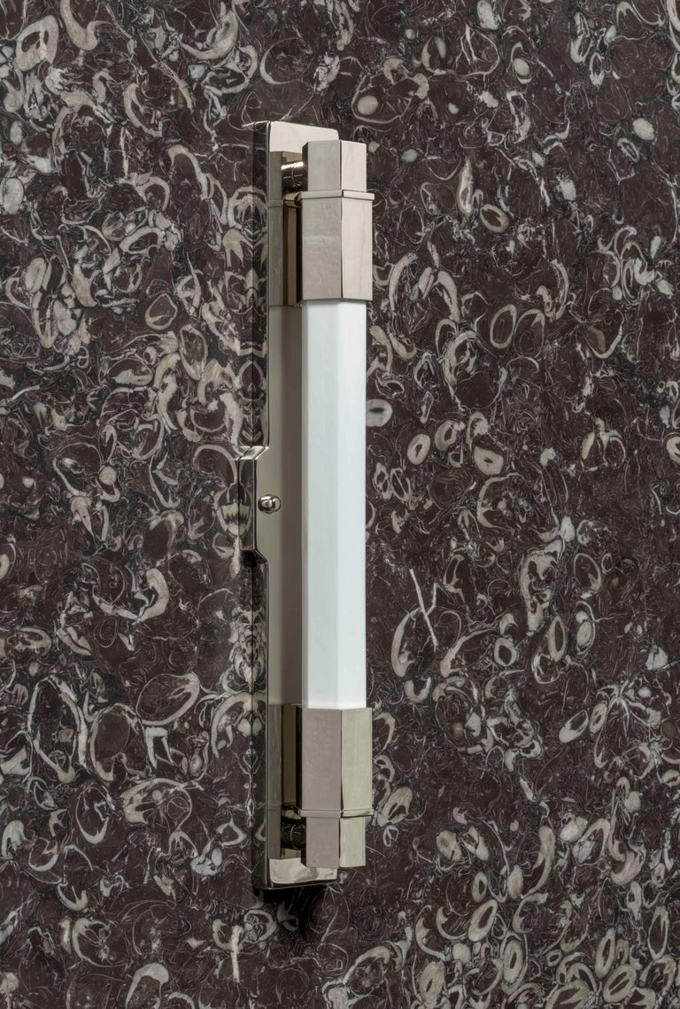 Conroy Nickel Wall Light Sconce in the Art Deco Style 'EU Wired' For Sale 4