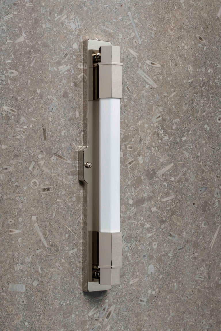 Conroy Nickel Wall Light Sconce in the Art Deco Style 'EU Wired' For Sale 7