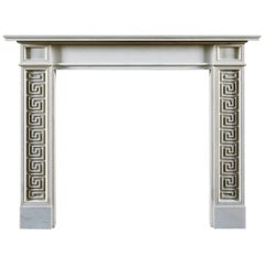 Jamb Pocock Regency Style Fireplace in White Statuary Marble