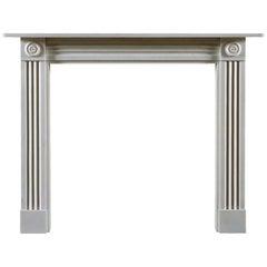 Jamb Regency Style Brunswick Fireplace in White Statuary Marble