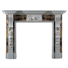 Jamb Russborough Fireplace in Siena and Statuary Marble