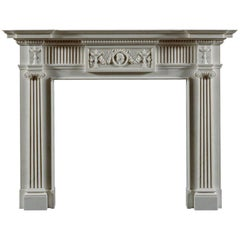 The Jamb Seymour Neoclassical Fireplace in White Statuary Marble
