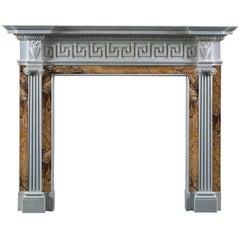 Jamb Tavistock Reproduction Fireplace Mantel in White Statuary Marble