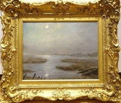 Thames River Moonlit Nocturne, 19th Century - James Abbot McNeill Whistler