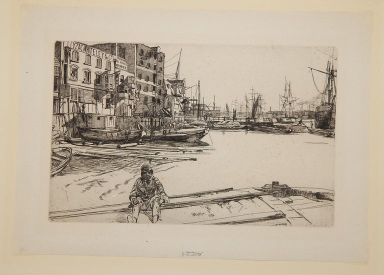 James Abbott McNeill Whistler, (1834-1903) Etching and drypoint. Signed in the plate lower center and dated 1859. Image measures: 5 1/4
