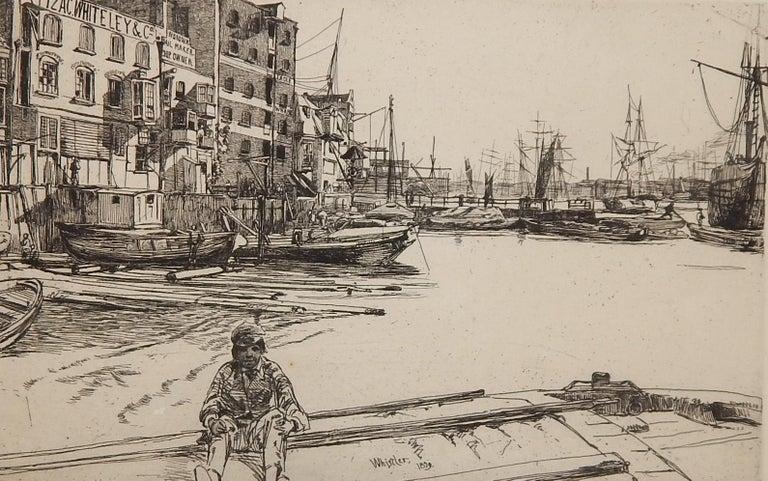 James Abbott McNeill Whistler Etching, 1959,