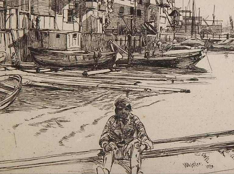 19th Century James Abbott McNeill Whistler Etching, 1959,