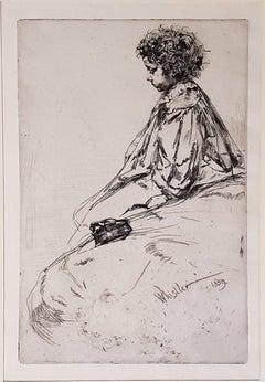 Bibi Lalouette - Original Etching by James Whistler - 1859