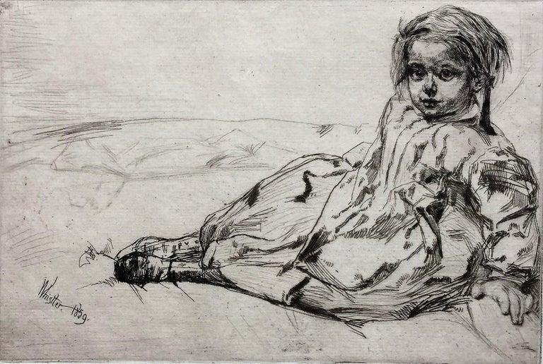 Bibi Valentin - Print by James Abbott McNeill Whistler