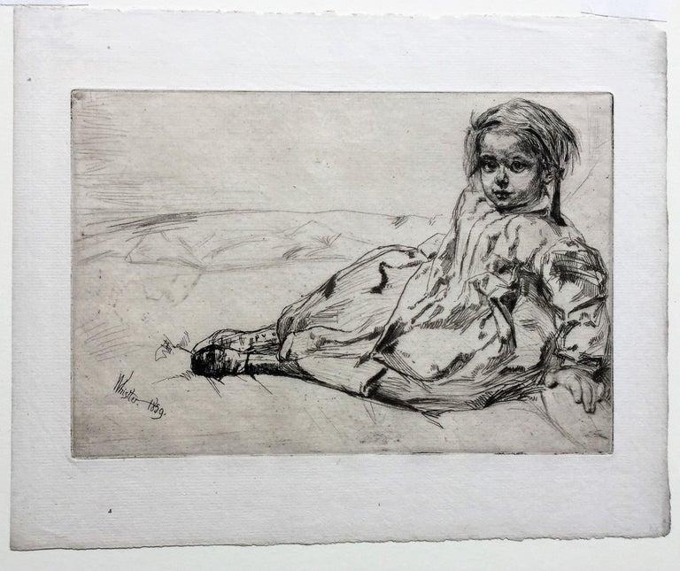Bibi Valentin - Gray Portrait Print by James Abbott McNeill Whistler