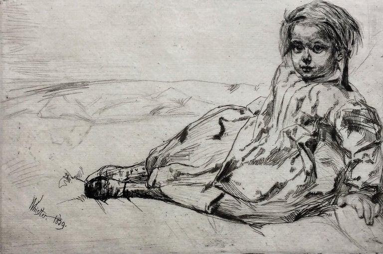 James Abbott McNeill Whistler Portrait Print - Bibi Valentin