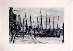 Billingsgate - Original Etching by James Whistler - 1859
