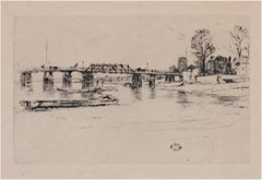 """Fulham AKA Chelsea (Kennedy 182),"" original etching by J.A.M. Whistler"