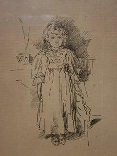 Little Evelyn, a Lithograph by James Abbott McNeill Whistler, 1896