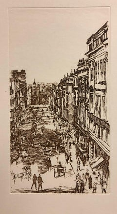 St. James's Street-Etching (Reproduction)