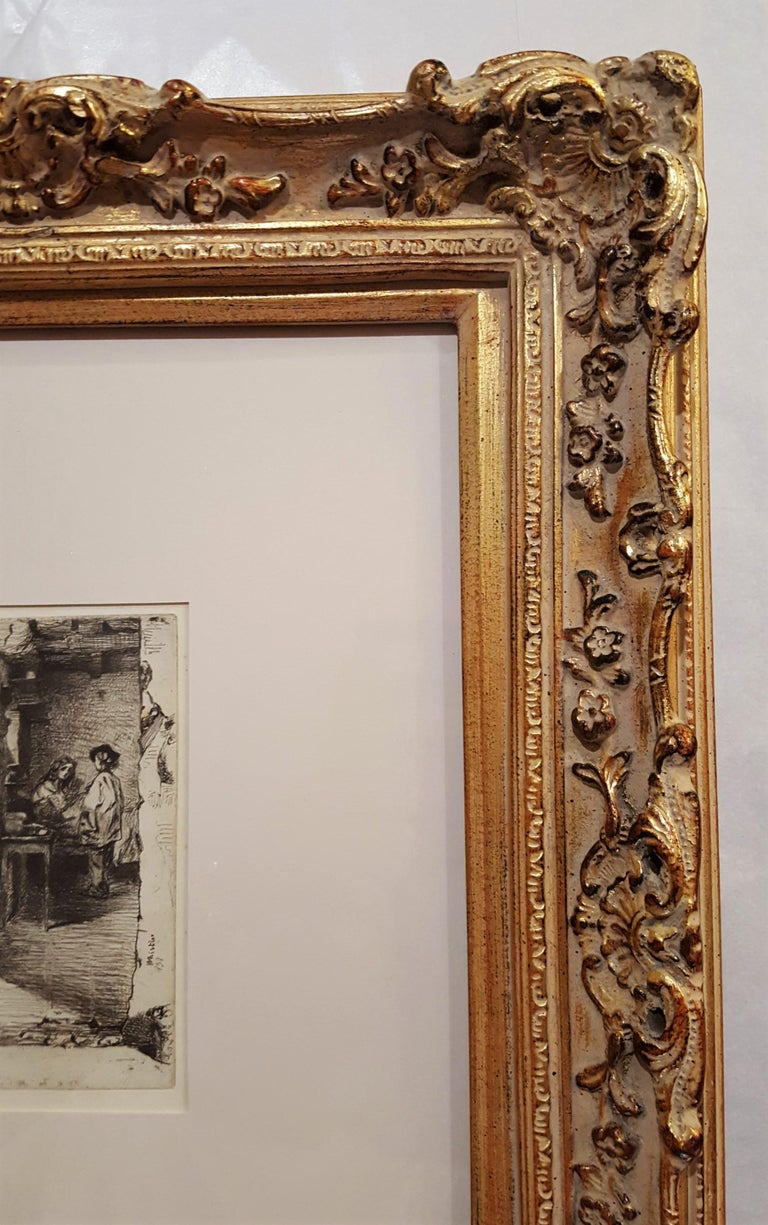 An original etching and drypoint on watermarked laid paper by American artist James Abbott McNeill Whistler (1834-1903) titled