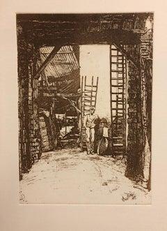 W. Jones, Lime-Burner, Thames Street-Etching (Reproduction)