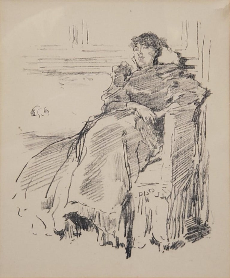 Woman In A Red Dress a Lithograph by James Abbott McNeill Whistler circa 1894 For Sale 1