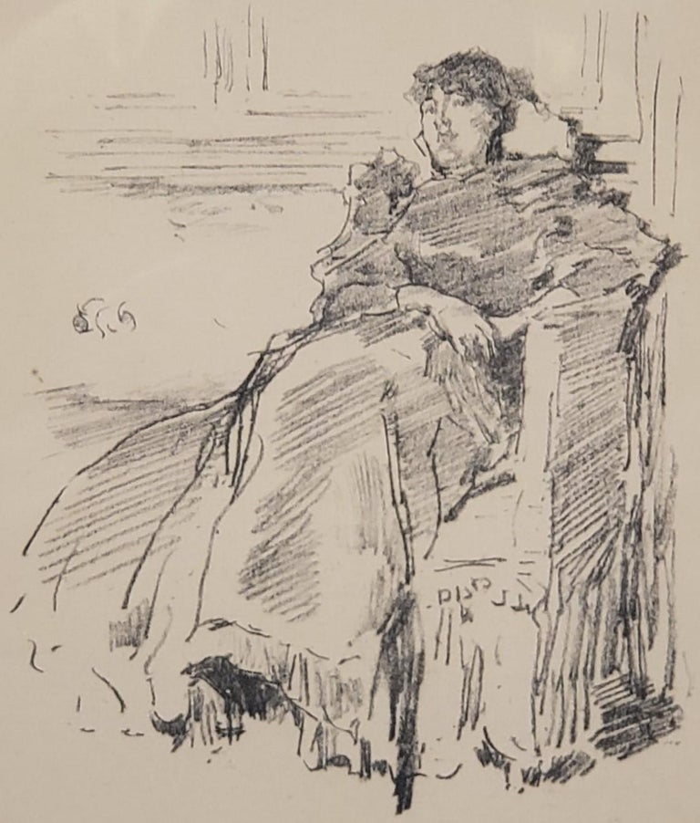 Woman In A Red Dress a Lithograph by James Abbott McNeill Whistler circa 1894 For Sale 2