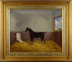 Late 19th Century oil painting of the cob horse New Fashion
