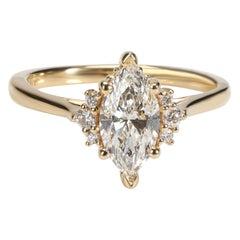 James Allen Diamond Ring in 18 Karat Gold GIA Certified E VVS2 0.98 CTW
