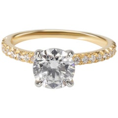 James Allen Diamond Ring in 18 Karat Yellow Gold GIA F VVS2 1.24 Carat