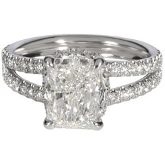 James Allen GIA Radiant Diamond Engagement Ring in Platinum I VS1 2.14 Carat